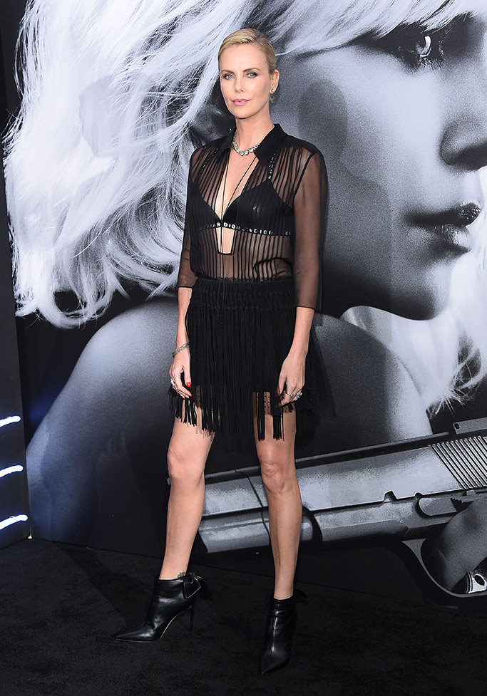 """Charlize Theron at the """"Atomic Blonde"""" premiere in NYC."""