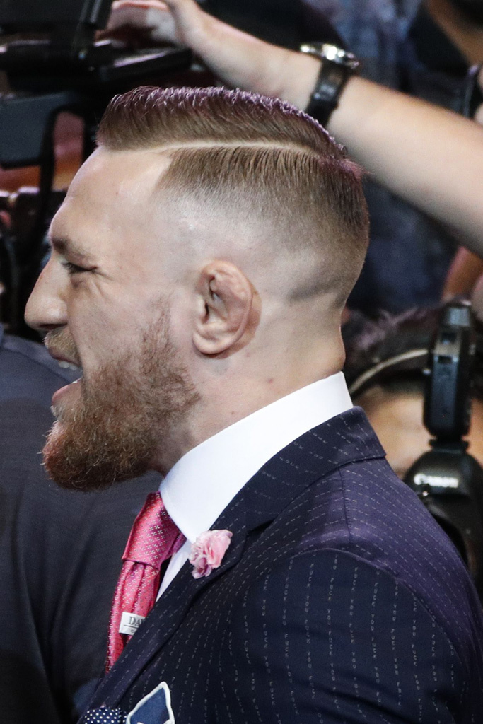 Floyd Mayweather Conor McGregor F*%k You suit buckled pointy oxford