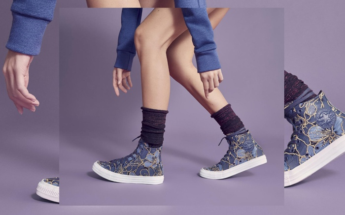Converse and patbo collaboration on chuck taylor all star converse in blue color way