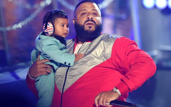 DJ Khaled and son Asahd Khaled at the BET Awards in LA, 2017