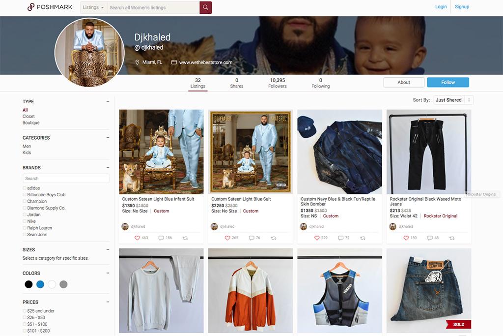 A look into DJ Khaled's Pop-Up Closet on Poshmark.