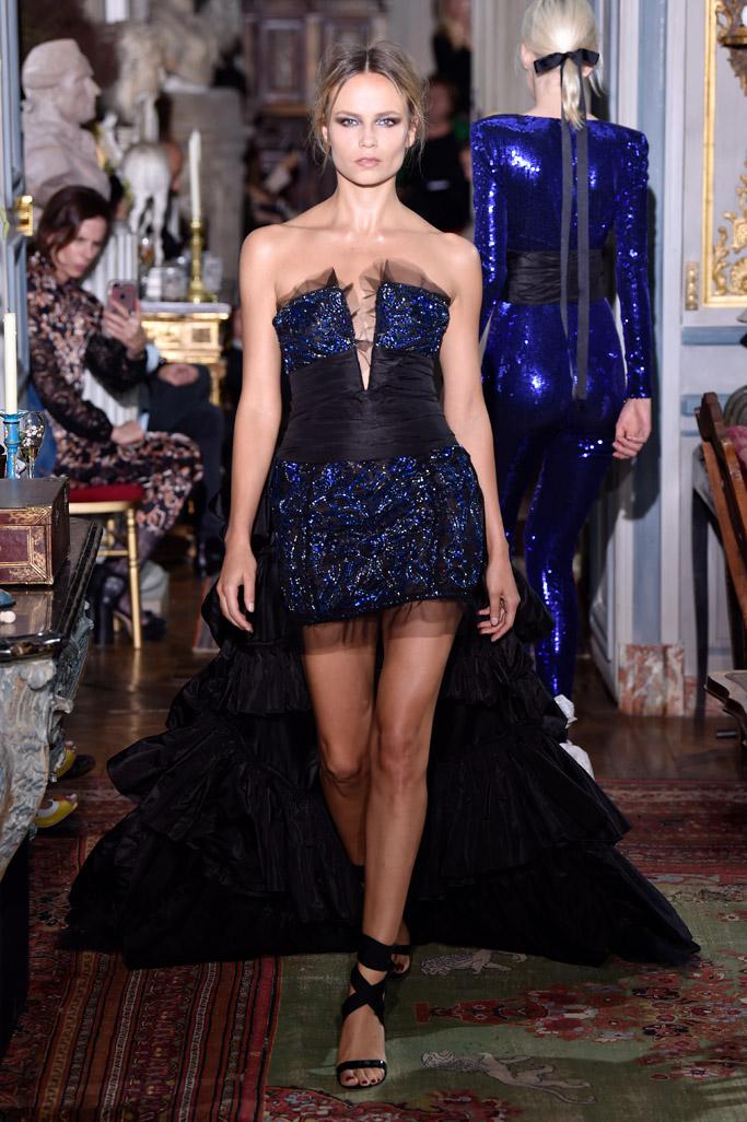 natasha poly, dundas, paris, haute couture fashion week