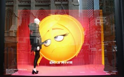 A window featuring the Saks x