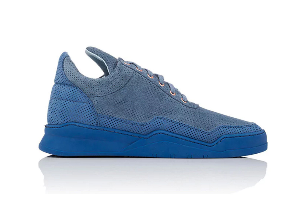 Filling Pieces Perforated Suede Ghost