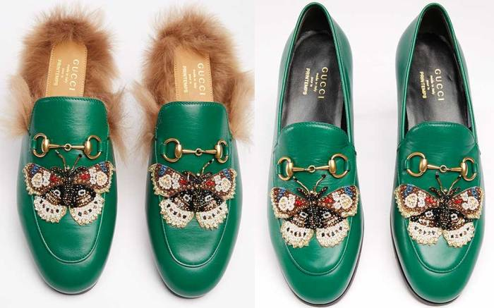 Gucci mules and loafers exclusive to Printemps Paris.