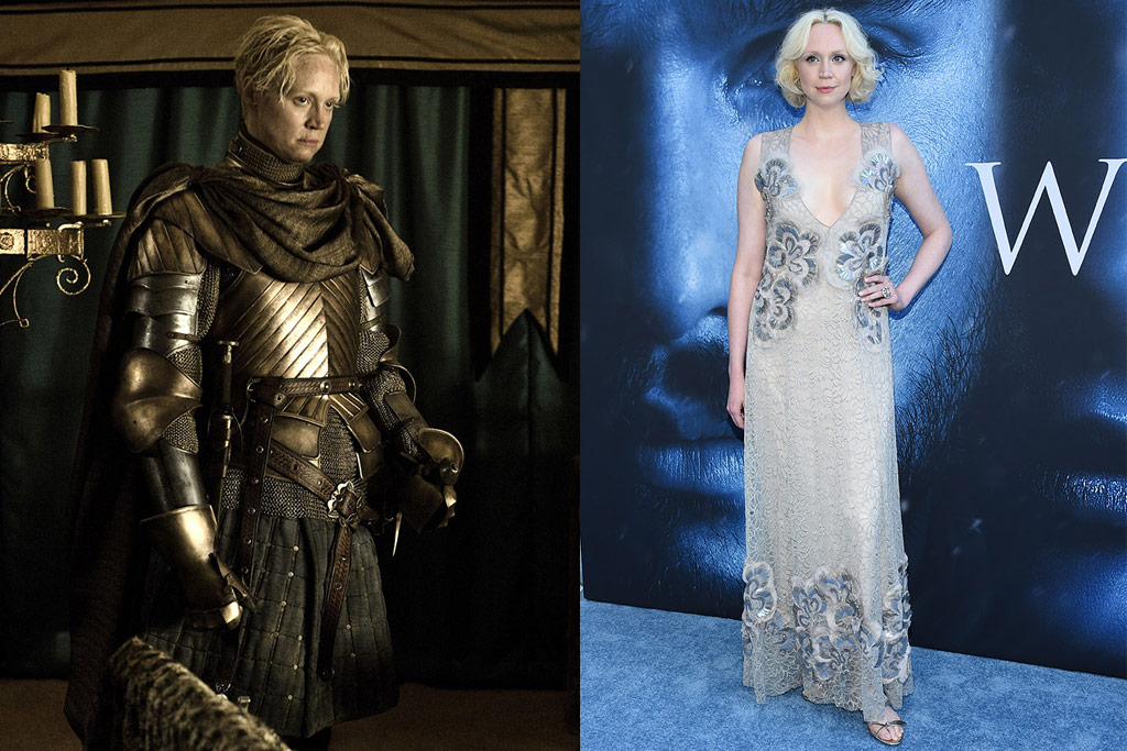 """Gwendoline Christie,Brienne of Tarth, on the red carpet for """"Game of Thrones"""" premiere"""