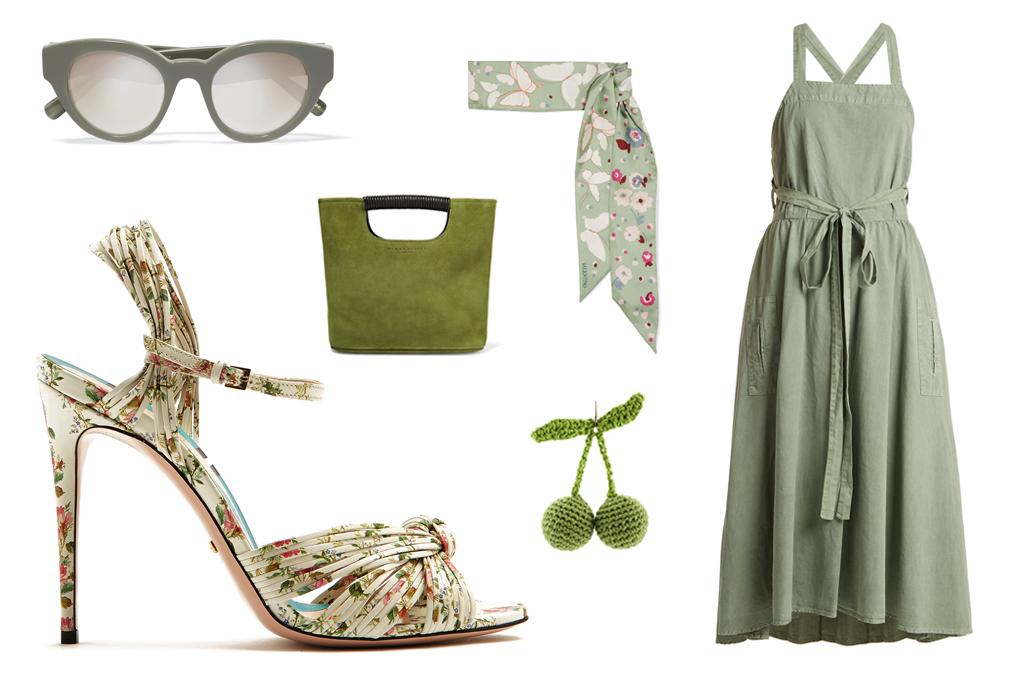 gucci floral print heel