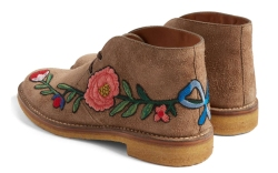 Gucci New Moreau Embroidered Chukka Boot