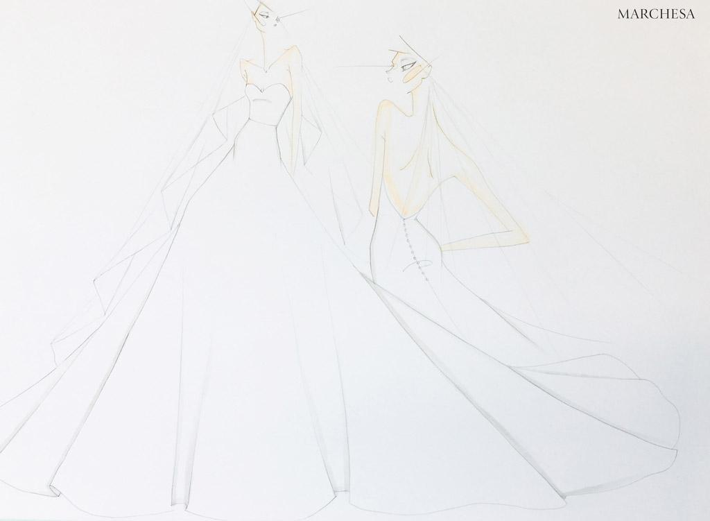 marchesa, wedding gown, bridal, julianne hough
