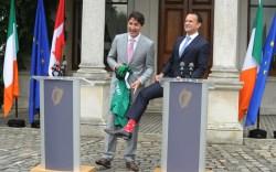 Ireland, Justin Trudeau, socks, Canada