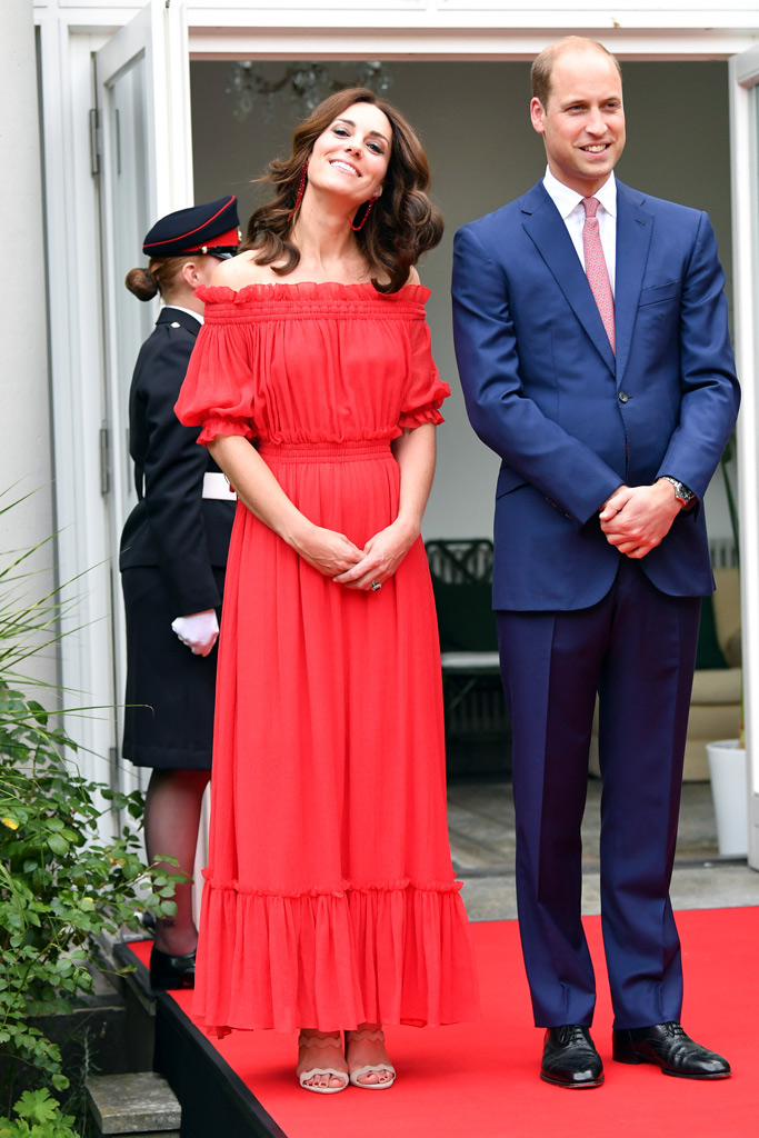 kate middleton style red dress berlin