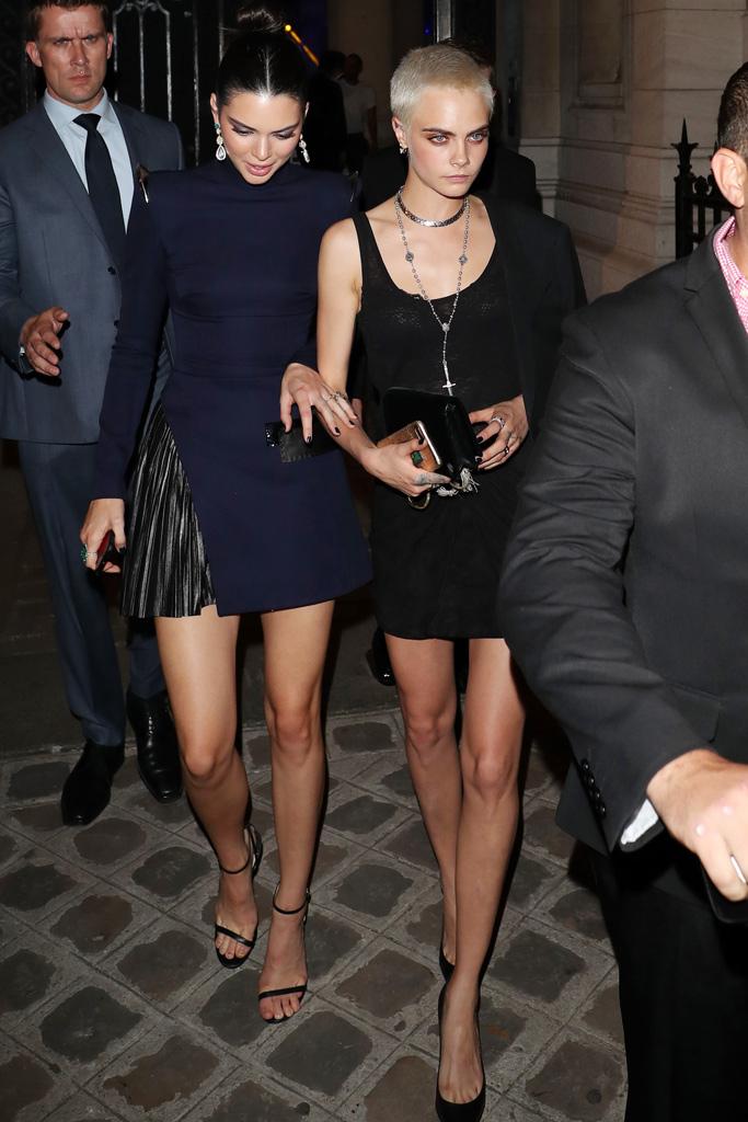kendall jenner cara delevingne paris couture week