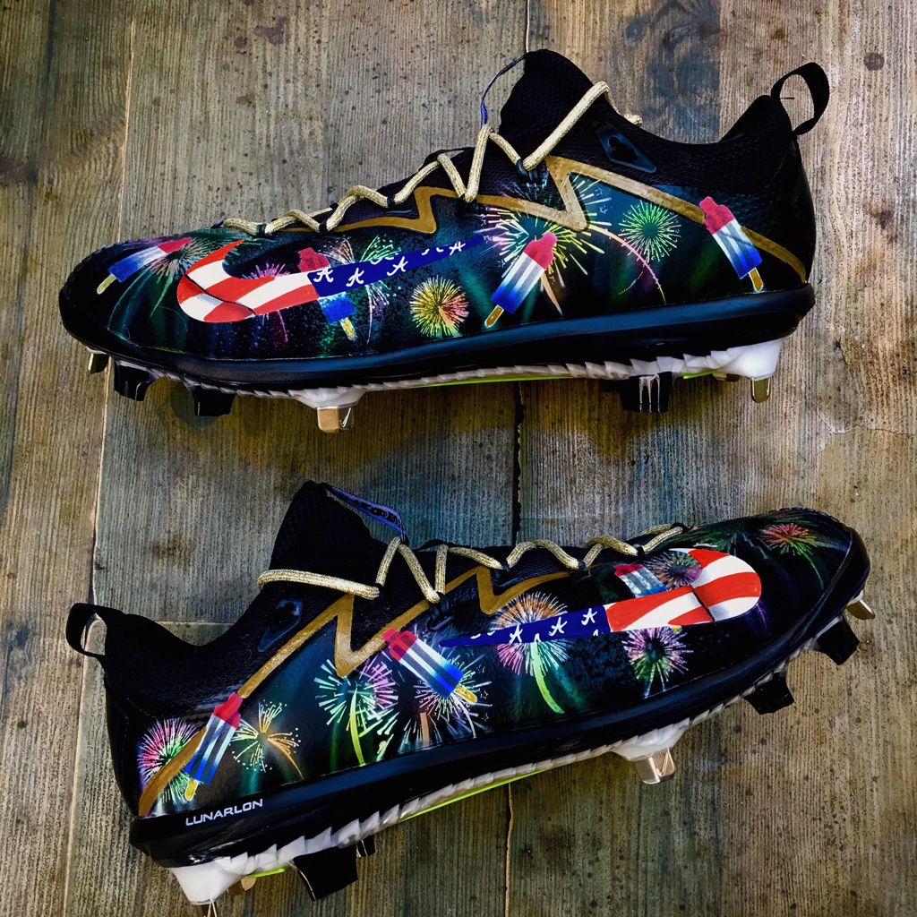 Matt Kemp custom July 4cleats Kickasso