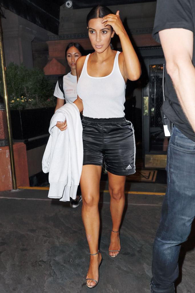 Kim Kardashian West, Adidas, sandals
