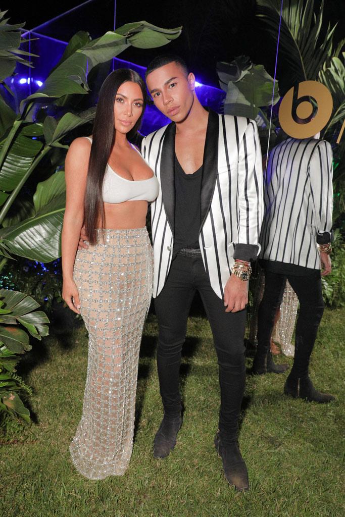 kim kardashian crop top balmain party