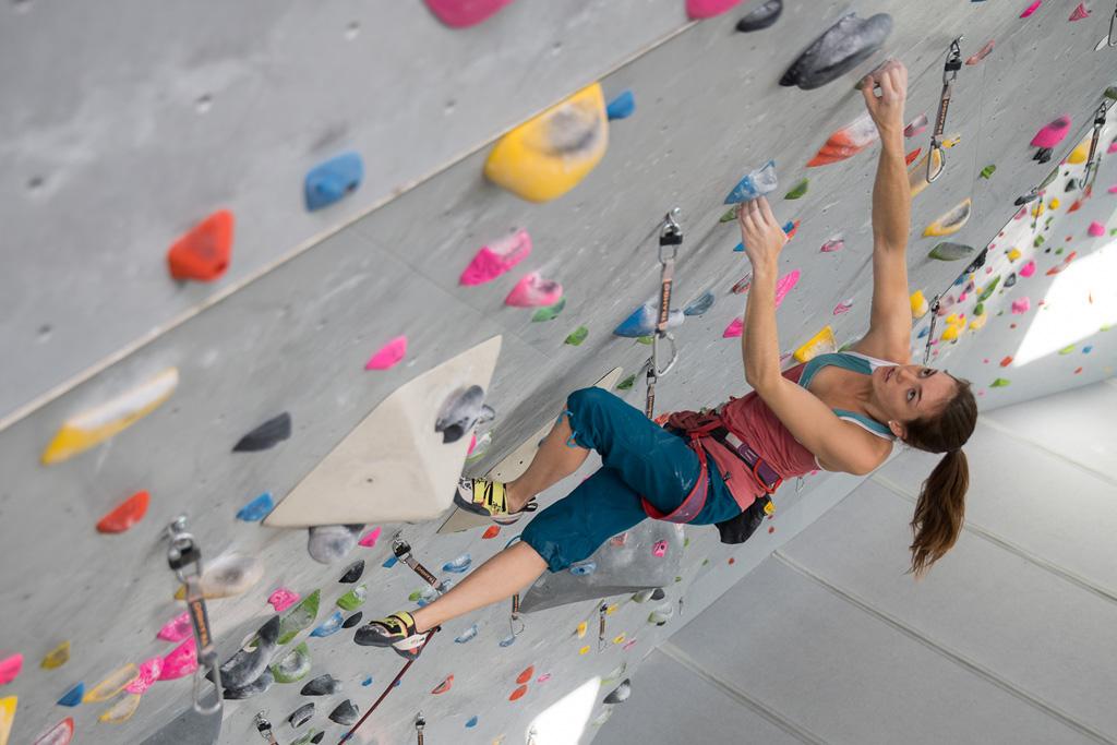 Paige Claassen climbing La Sportiva