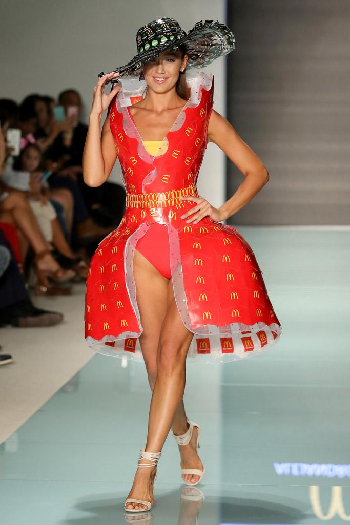 mcdonald's, mcdonalds, mcdcouture, miami swim week, runway, fashion show