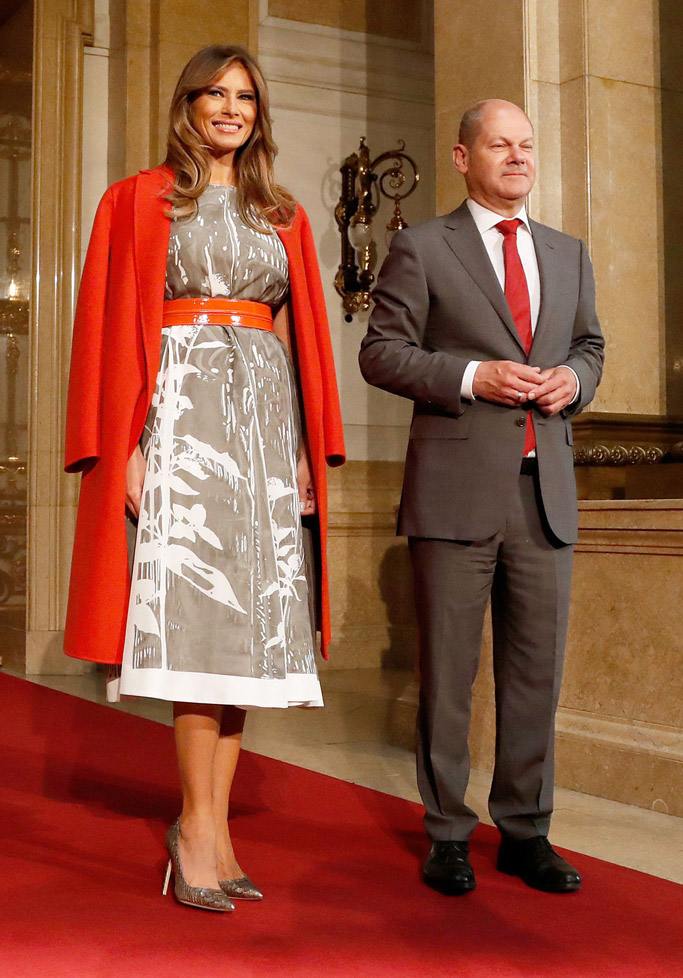melania trump, germany, today, snakeskin, heels, shoes, fashion, style