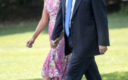 Melania Trump Wore Head-to-Toe Pink in Ohio