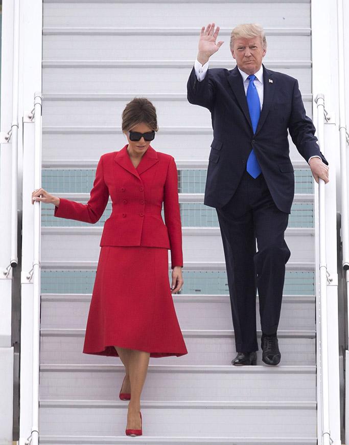 Melania Trump, France, Paris