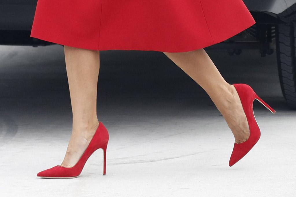 Melania Trump, shoes, heels