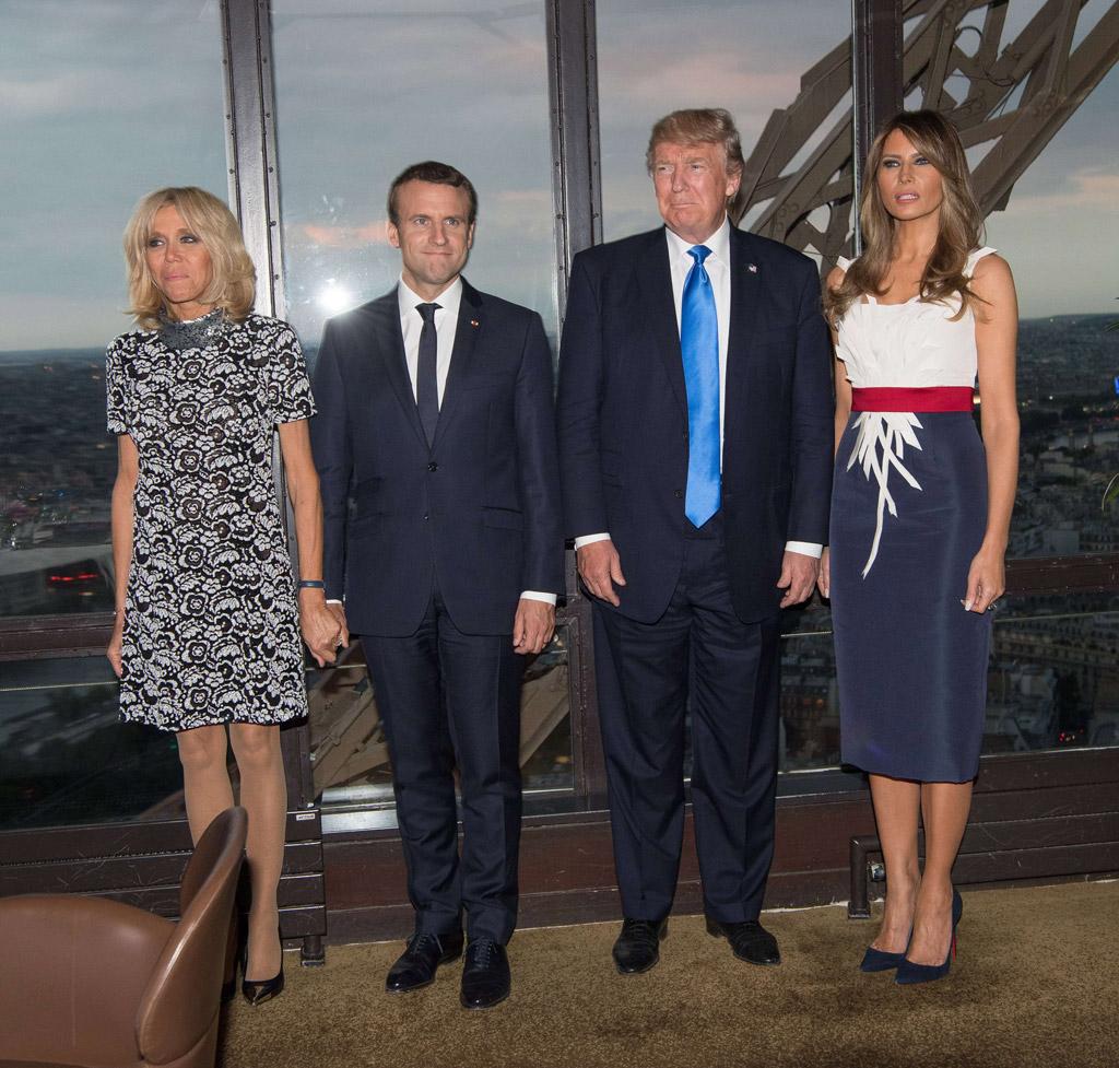melania trump, france, donald trump, Brigitte Trogneux, Emmanuel Macron, eiffel tower, Jules Verne