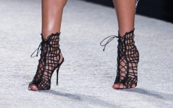 Shoes on the Runway at Miami Swim Week