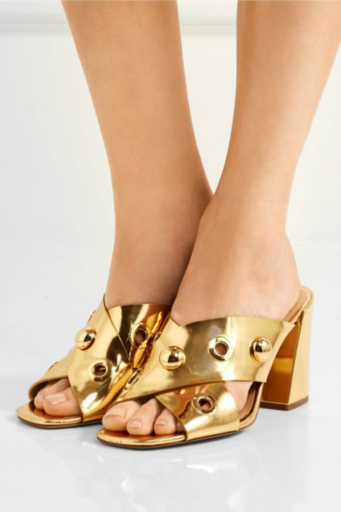 michael kors collection, embellished mules