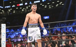 Mikey Garcia boxing Everlast boots