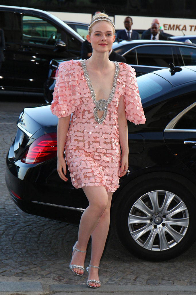 celebrities, miu miu, paris, haute couture fashion week, shoes, Elle Fanning