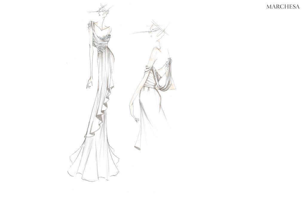 marchesa, wedding gown, bridal, julianne hough, mother