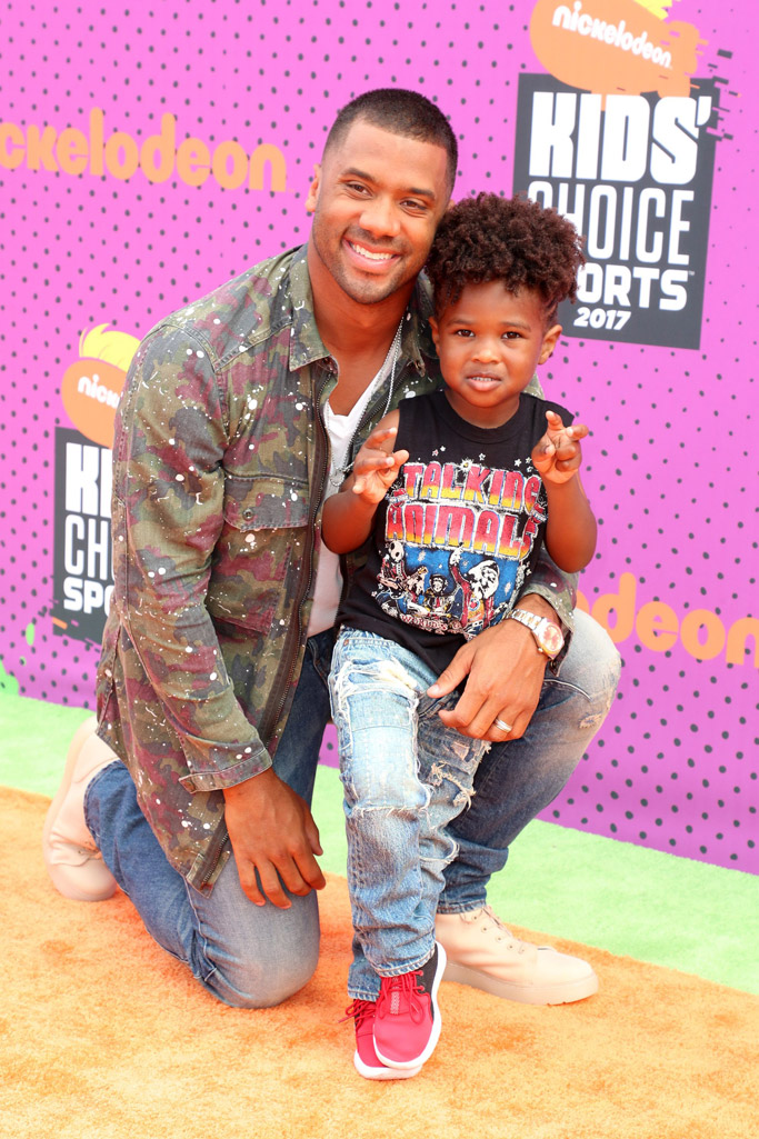 2017, Nickelodeon Kids' Choice Sports Awards, red carpet, fashion, style, Russell Wilson and Future Zahir Wilburn