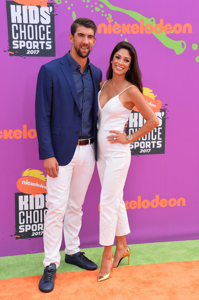2017, Nickelodeon Kids' Choice Sports Awards, red carpet, fashion, style, michael phelps, nicole johnson
