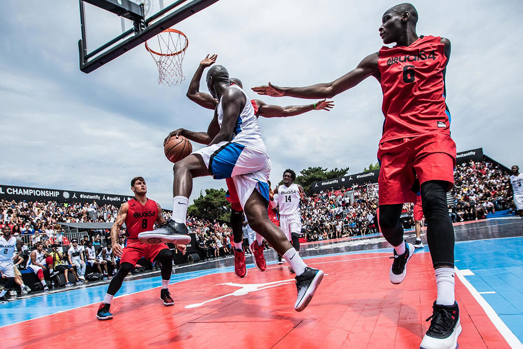basketball Teams sported various Jordan styles while competing in the annual streetball tournament in Paris.