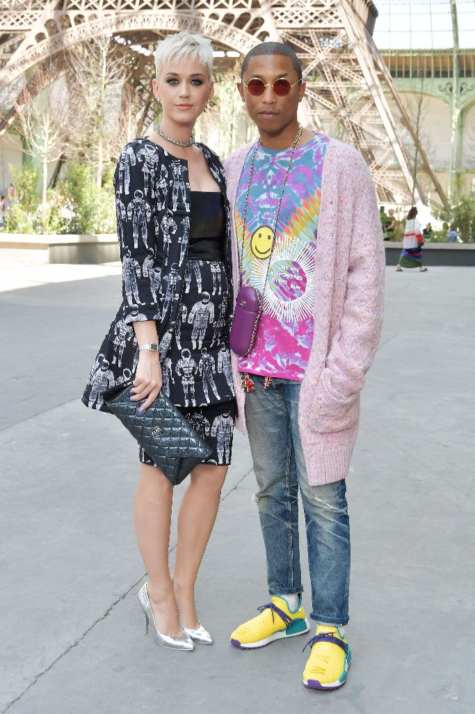 katy perry, pharrell, chanel 2017, haute couture fashion week