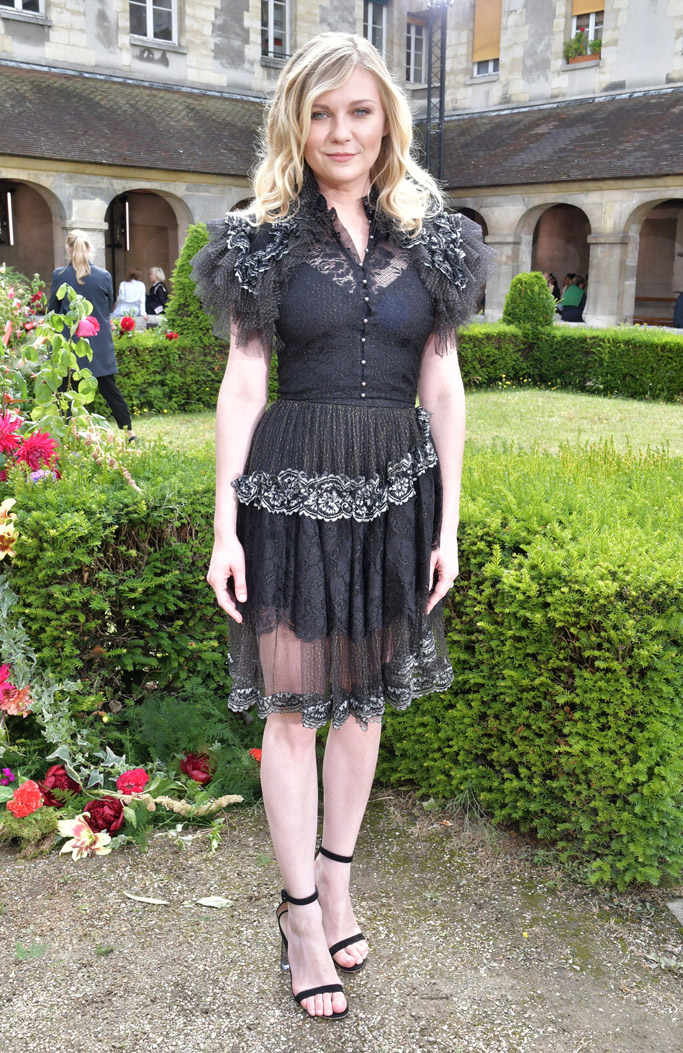 Kirsten Dunst, gianvito rossi, rodarte, Paris Haute Couture Fashion Week