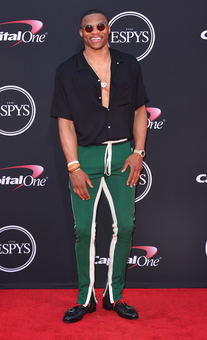russell westbrook style espys gucci boots