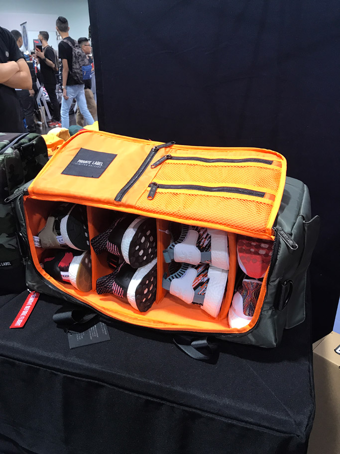 private label, duffle bag, sneakers, bombr