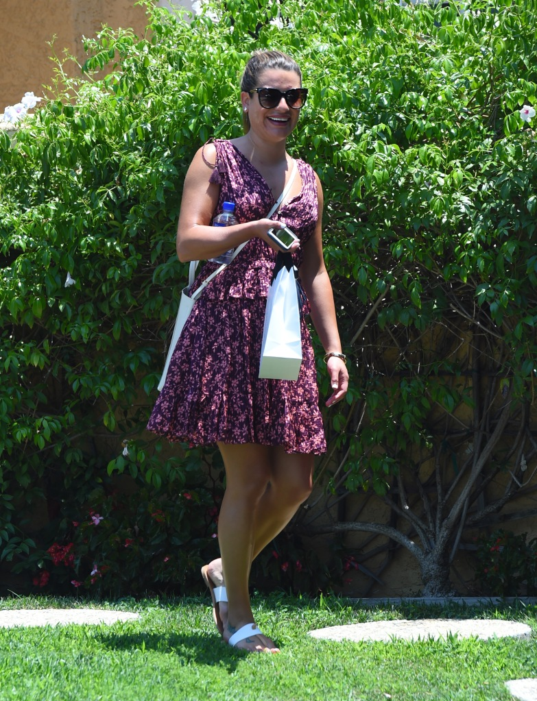 A make-up free Lea Michele in West Hollywood, CA.