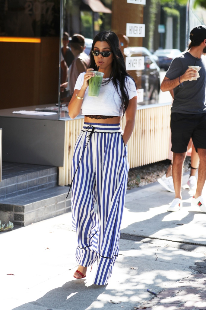 Kourtney Kardashian at Melrose Place.