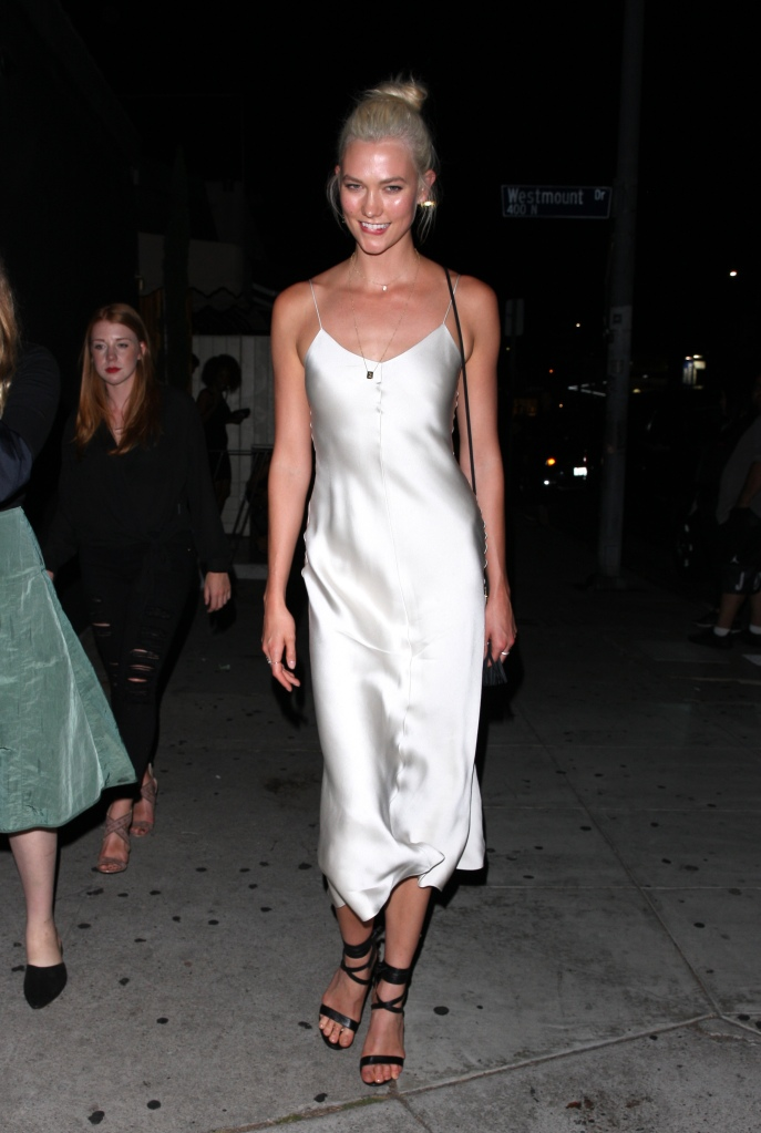 Karlie Kloss at Nice Guy club in West Hollywood.