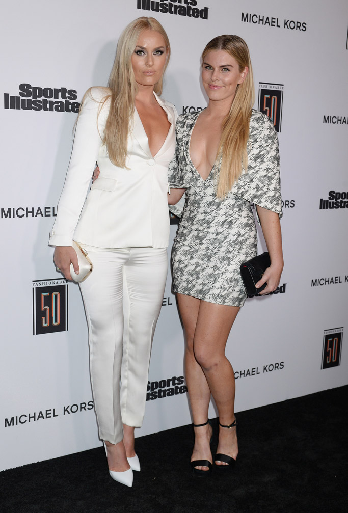 Lindsey Vonn, Karin Kildow, Sports Illustrated Fashionable 50 Party, sports illustrated, red carpet, fashion, style, shoes, sister
