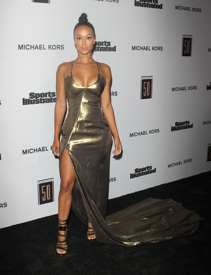 Draya Michele, Anya Liesnik, tom ford shoes, Sports Illustrated Fashionable 50 Party, sports illustrated, red carpet, fashion, style, shoes