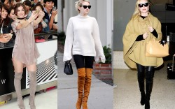 Celebrities' Go-To Shoes: Stuart Weitzman Thigh-High Suede Boots