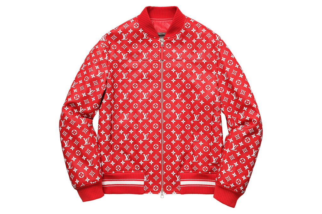 Supreme x Louis Vuitton Leather Baseball Jacket