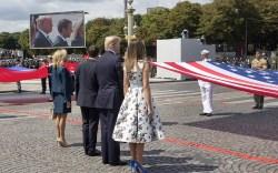 Trumps at Bastille Day Parade in Paris
