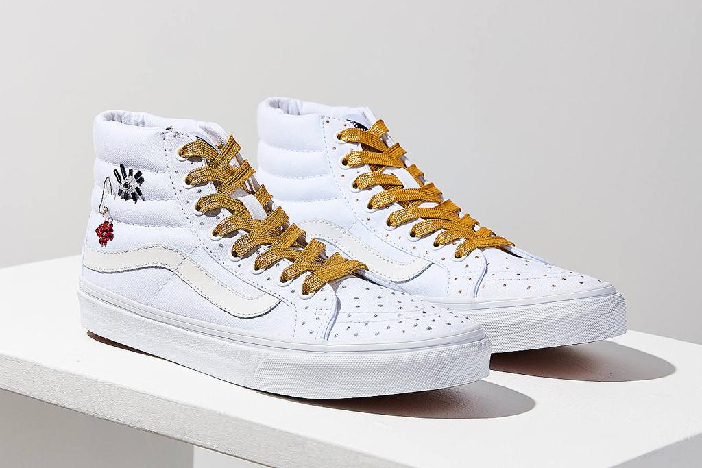 UO Design x Vans Sk8-Hi Gold Beaded
