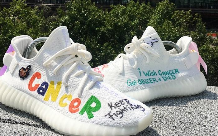 Adidas Yeezy Boost 350 V2 Cancer Custom