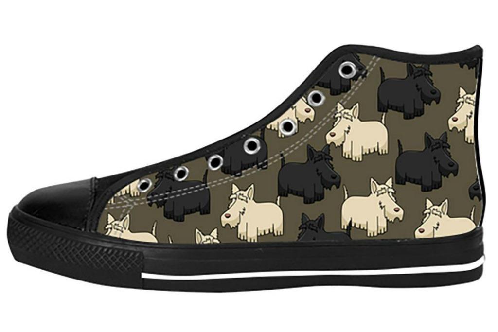 tee amazing Custom Scottish Terrier Canvas Shoes