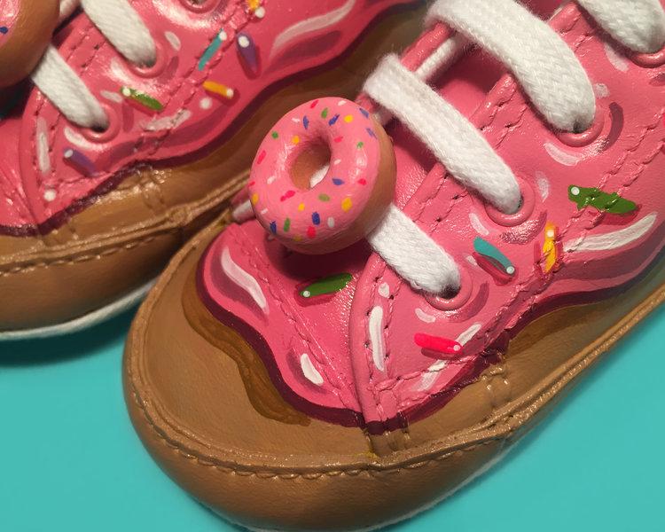 baby donut sneakers night victories